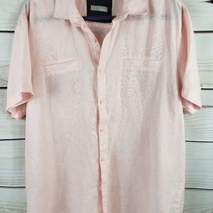 Mens Bruno 100% Linen Casual Button up Large